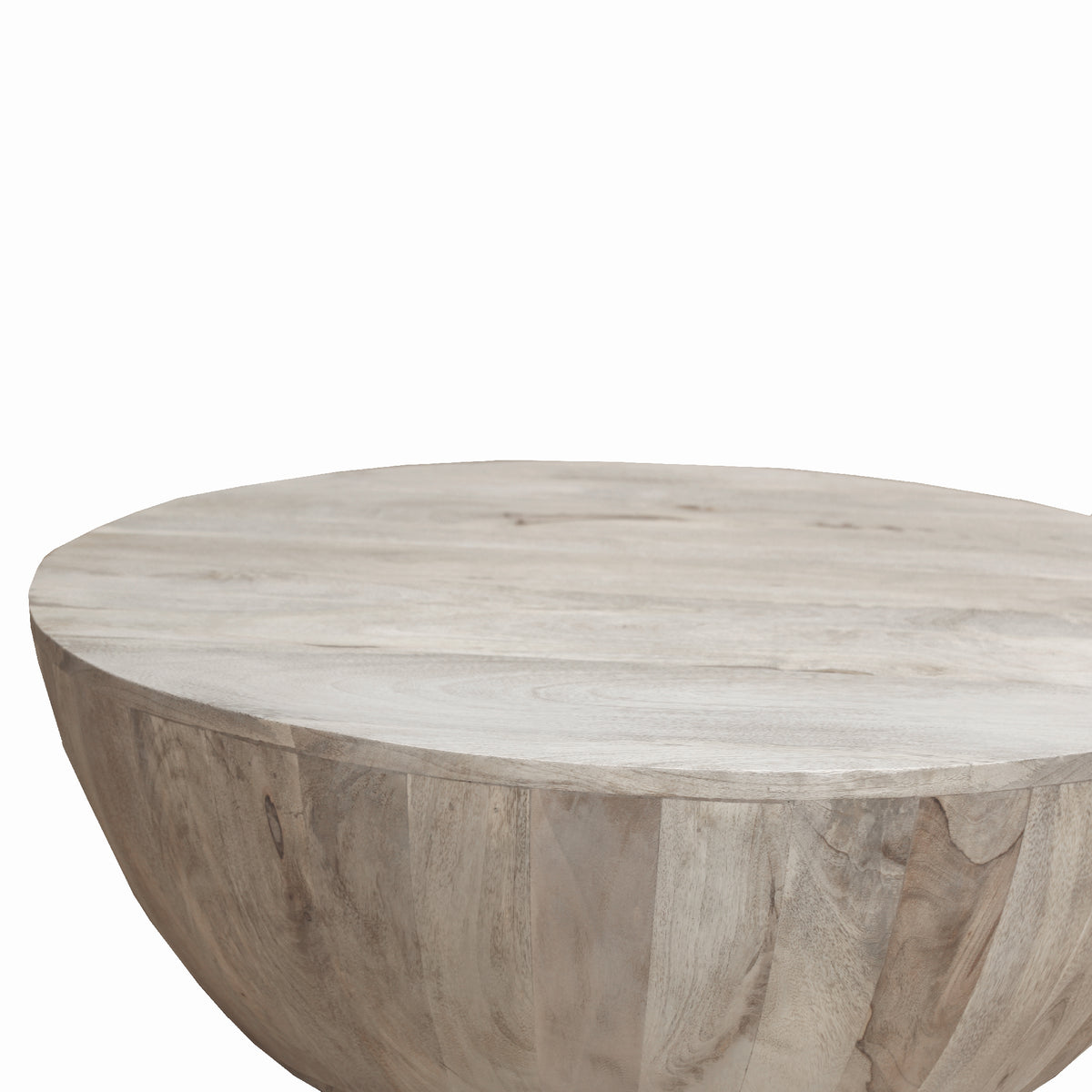 The Urban Port Distressed Mango Wood Coffee Table In Round