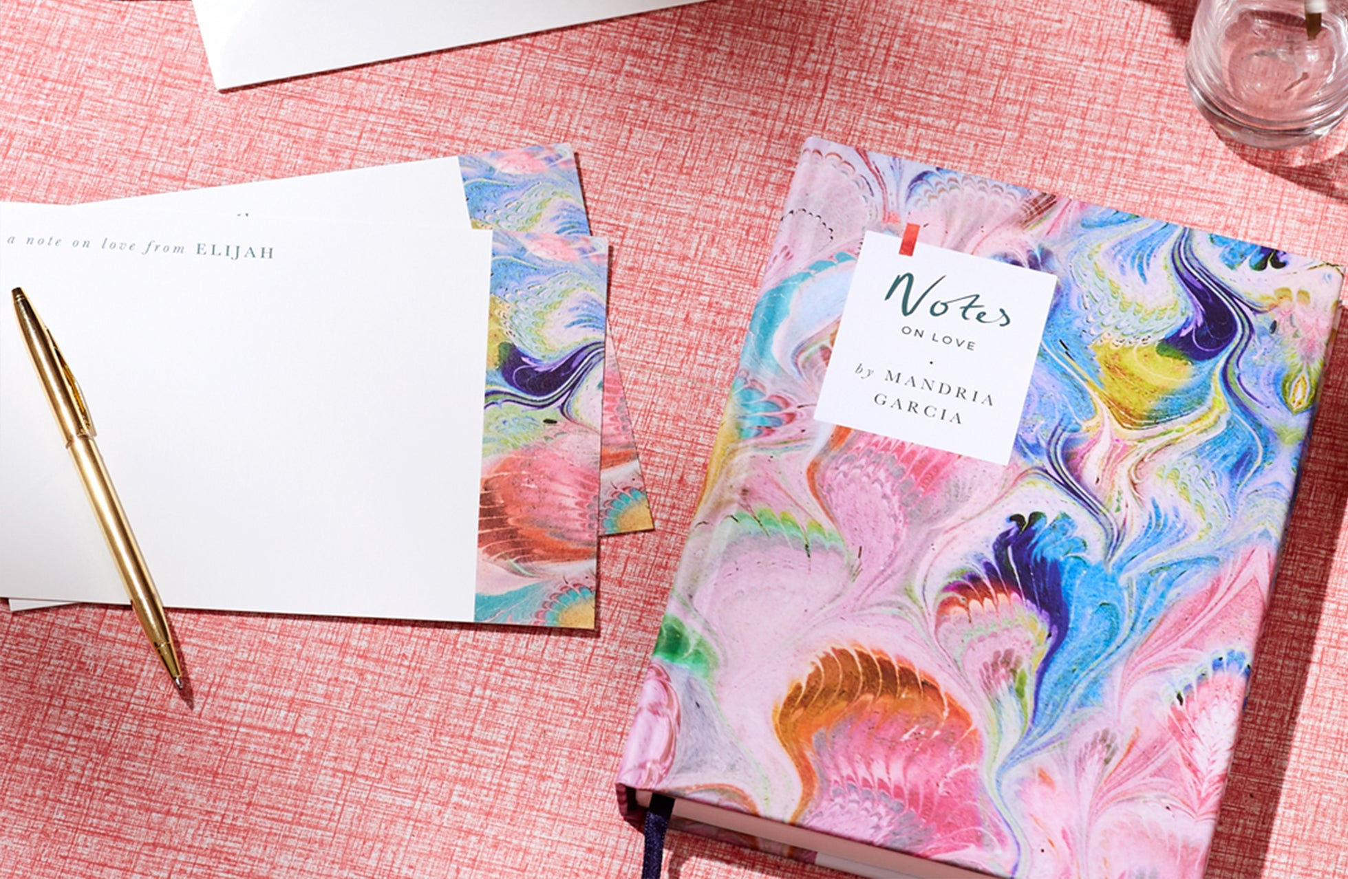 Personalised Notebook and notecards from Fenton x Papier
