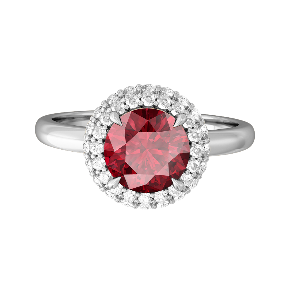 Treasure Box Vintage Round Original Ruby Platinum