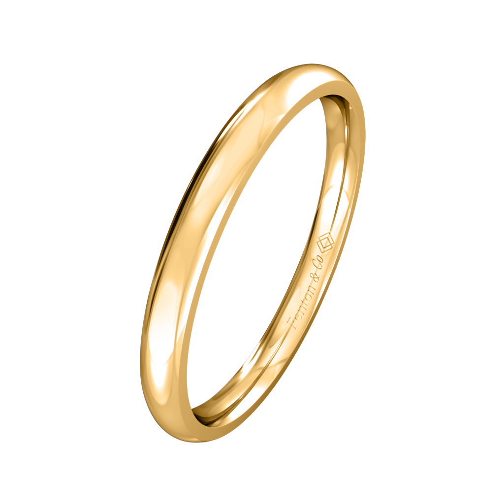 Treasure Box Plain Band 18kt Yellow Gold