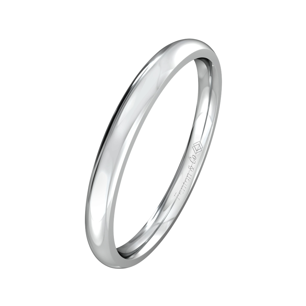 Treasure Box Plain Band 18kt White Gold