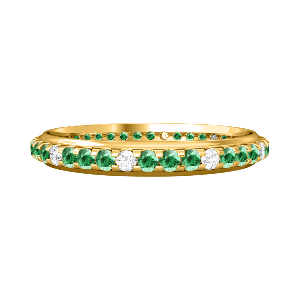 Treasure Box Eternity Band Emerald 18kt Yellow Gold
