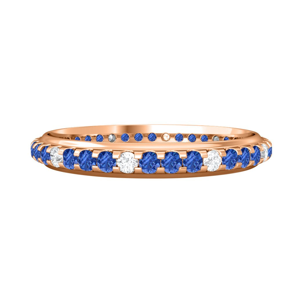 Treasure Box Eternity Band Blue Sapphire 18kt Rose Gold