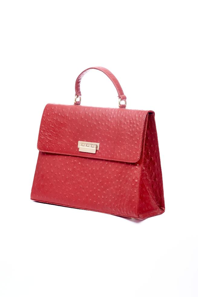 Red classic structured bag