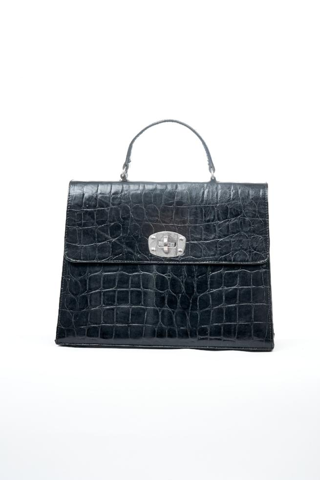 Black Classic Structured Bag
