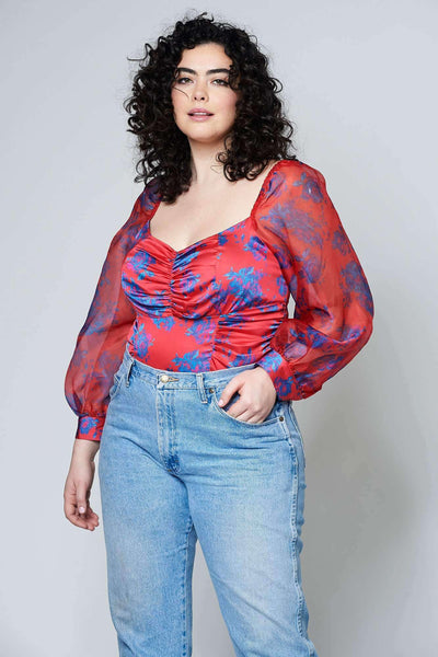 plus - Red and Blue Floral