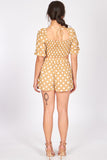 juniors - Beige Polka Dots