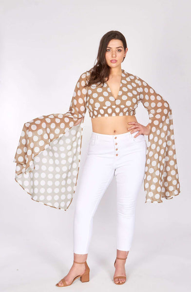 plus - Beige Polka Dot