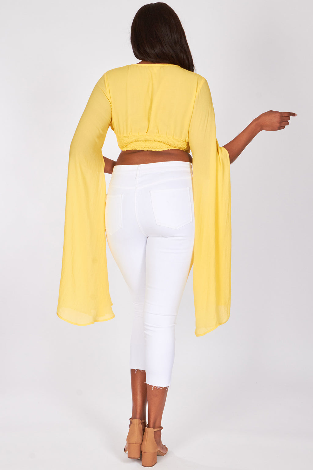 Exaggerated Sleeve Cameron Crop Top