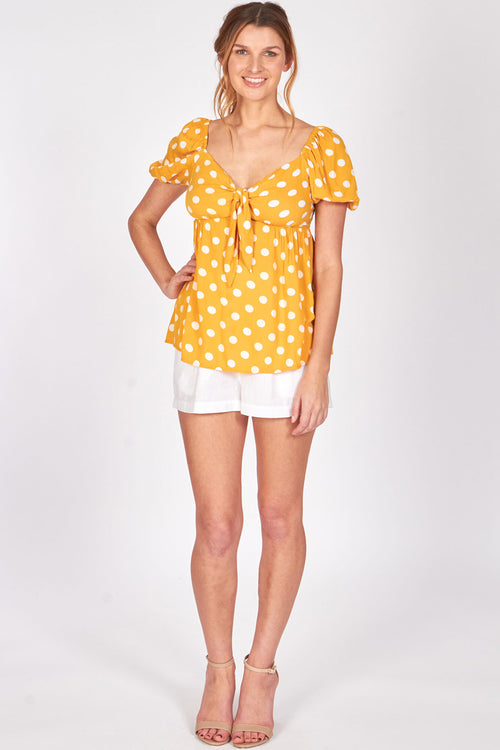 juniors - Gold Polka Dot