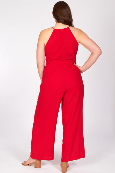 Mila Deep Red Jumpsuit