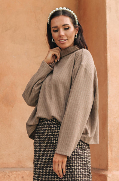 Bower Sweater in Taupe