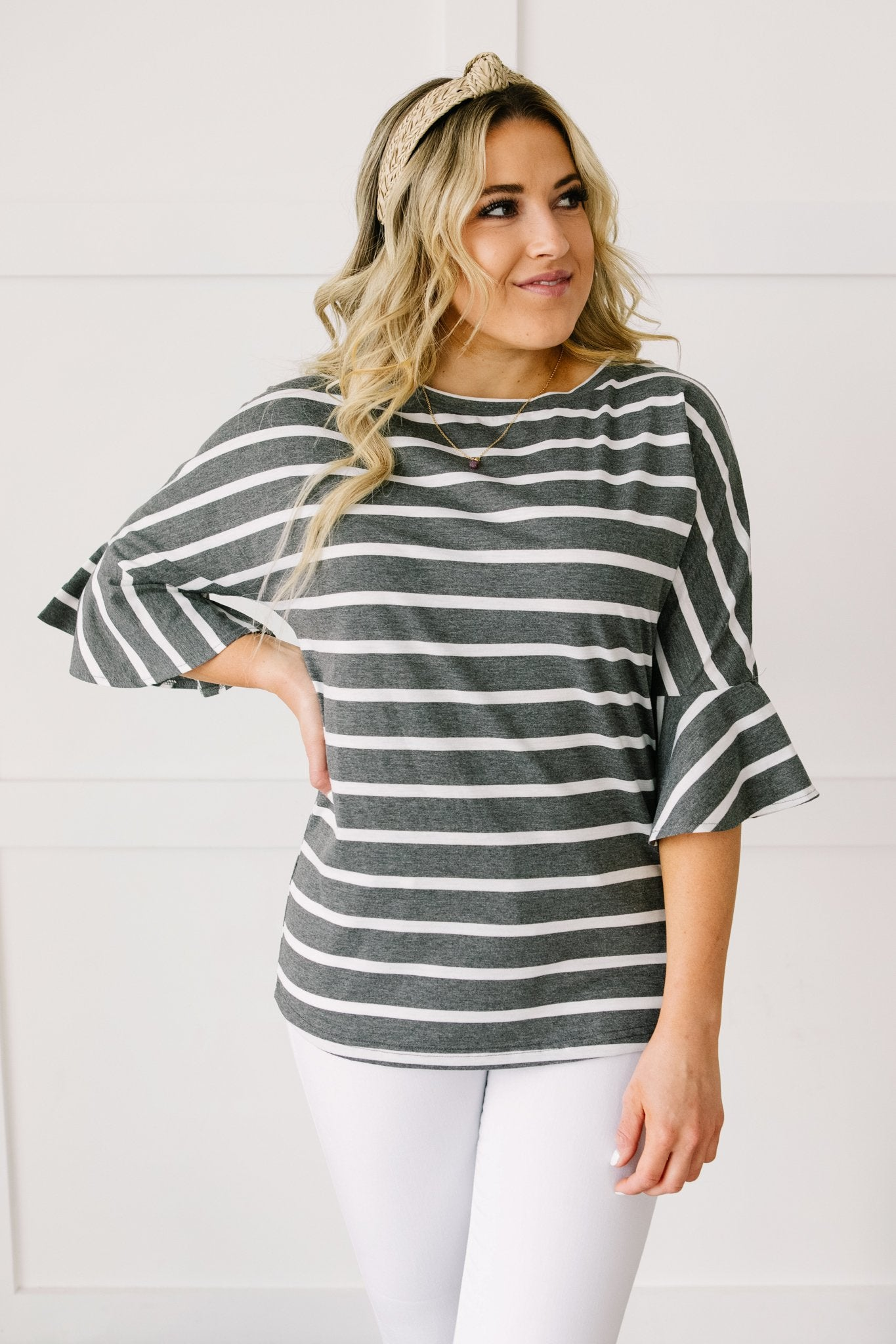 Every Direction Top in Charcoal