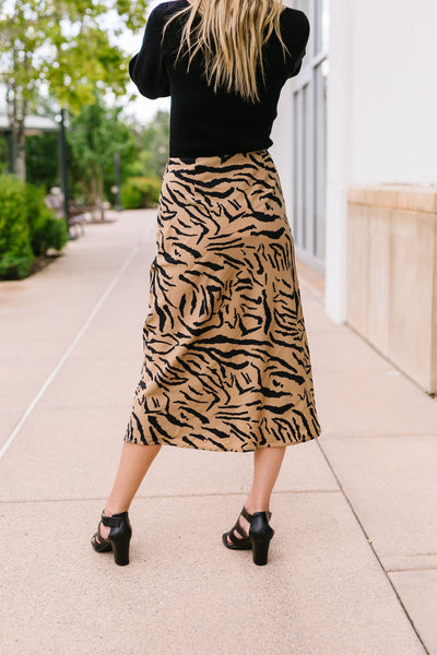 Eye Of The Tiger Midi Skirt
