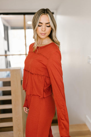 Ruffly Rust Top