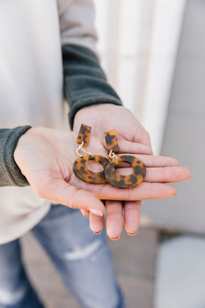 Better Than Donuts Tortoise Earrings