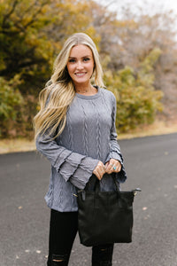 Caitlyn Cable Knit Top