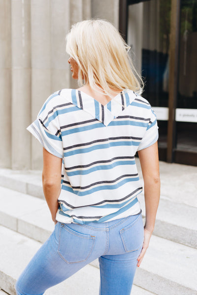 Cecily Striped V-Neck Top