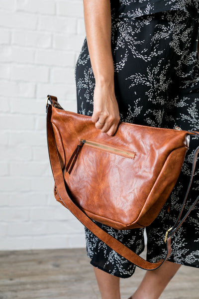 Cognac Vintage Hobo Bag