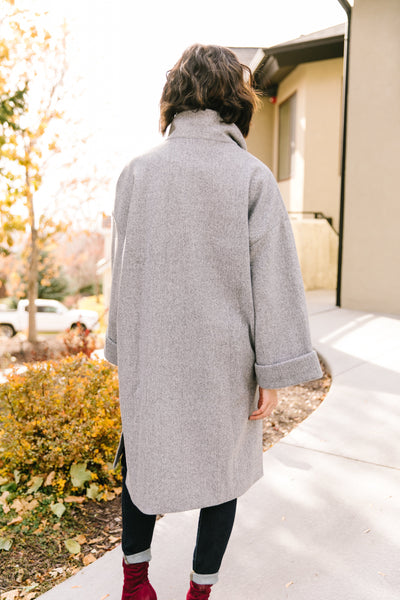 Deconstructed Oversized Trench Coat