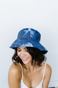 Denim Tie Dye Bucket Hat