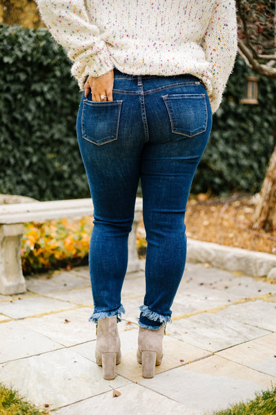 KanCan Double Trouble Fringed Jeans