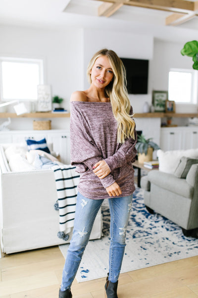 Isn't She Lovely Heathered Blush Top