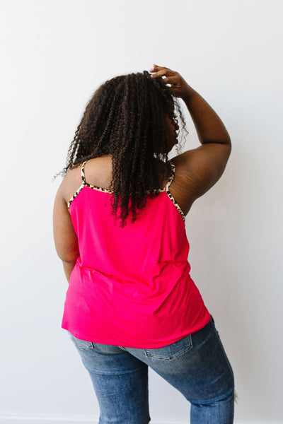 Just A Little Wild Camisole In Hot Pink