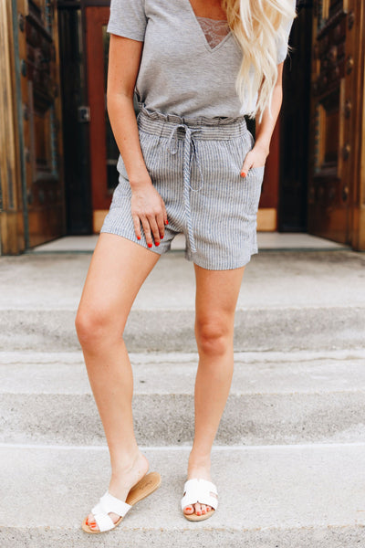 Lazy Sunday Striped Shorts