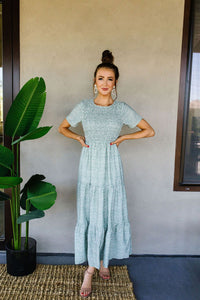 Mint Julep Smocked Dress
