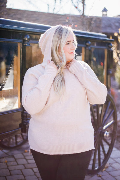 Snow Flurries Hoodie In Cream