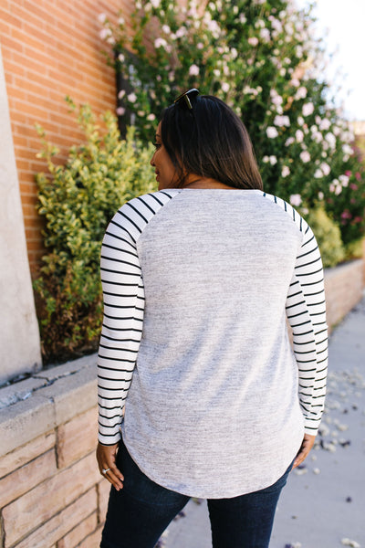 Throw And Go Raglan Long-Sleeved Tee