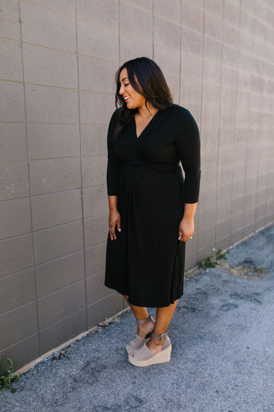 Twist Of Fate Black Dress