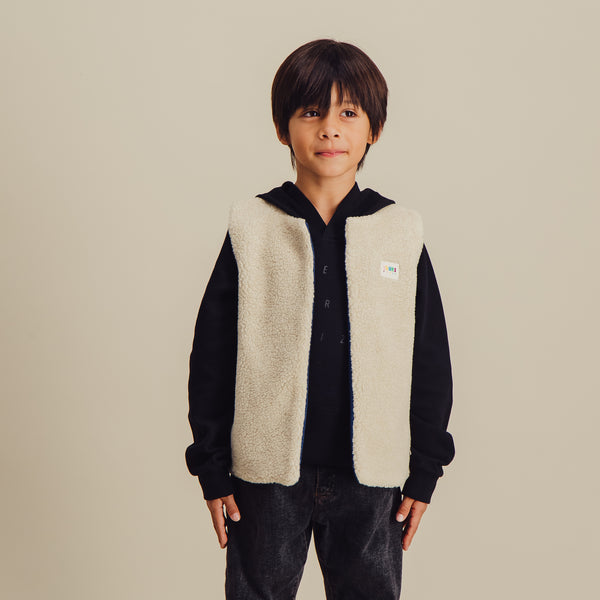 Tomorrow Vest Sheepskin 2 | Ecru