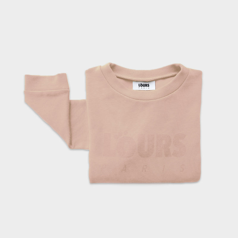 The Original Sweatshirt Logo | Rose - loursparis