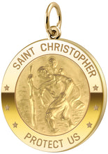 Saint Christopher Necklace In Round - No Chain