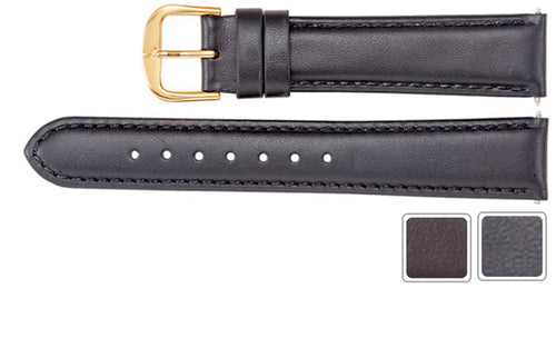 Watch Band - Leather Watch Strap In Padded Calf Leather