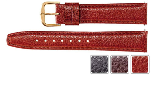 Watch Band - Leather Watch Band In Textured Calf Leather