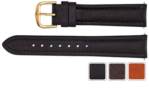 Watch Band - Leather Watch Band In Chrono Style For Men