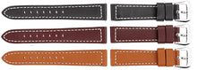 Watch Band of Calf Leather With Nickel-Free Buckles - Padded