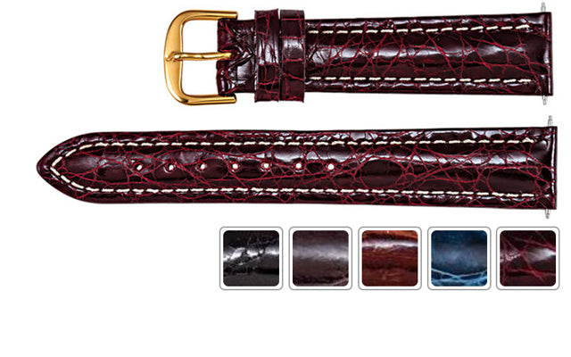 Watch Band - Watch Strap In Crocodile Genuine Leather