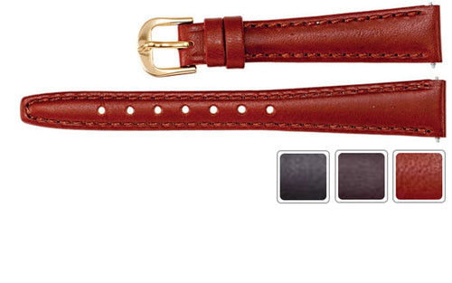 Watch Band - Leather Watch Strap In Saddle Calf Leather
