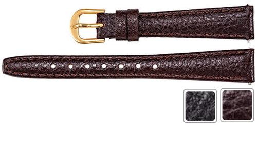 Watch Band - Leather Watch Strap In Textured Calf Leather