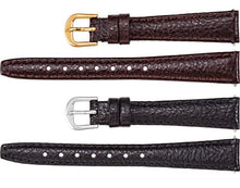 Watch Band In Textured Calf Leather - Brown & Black