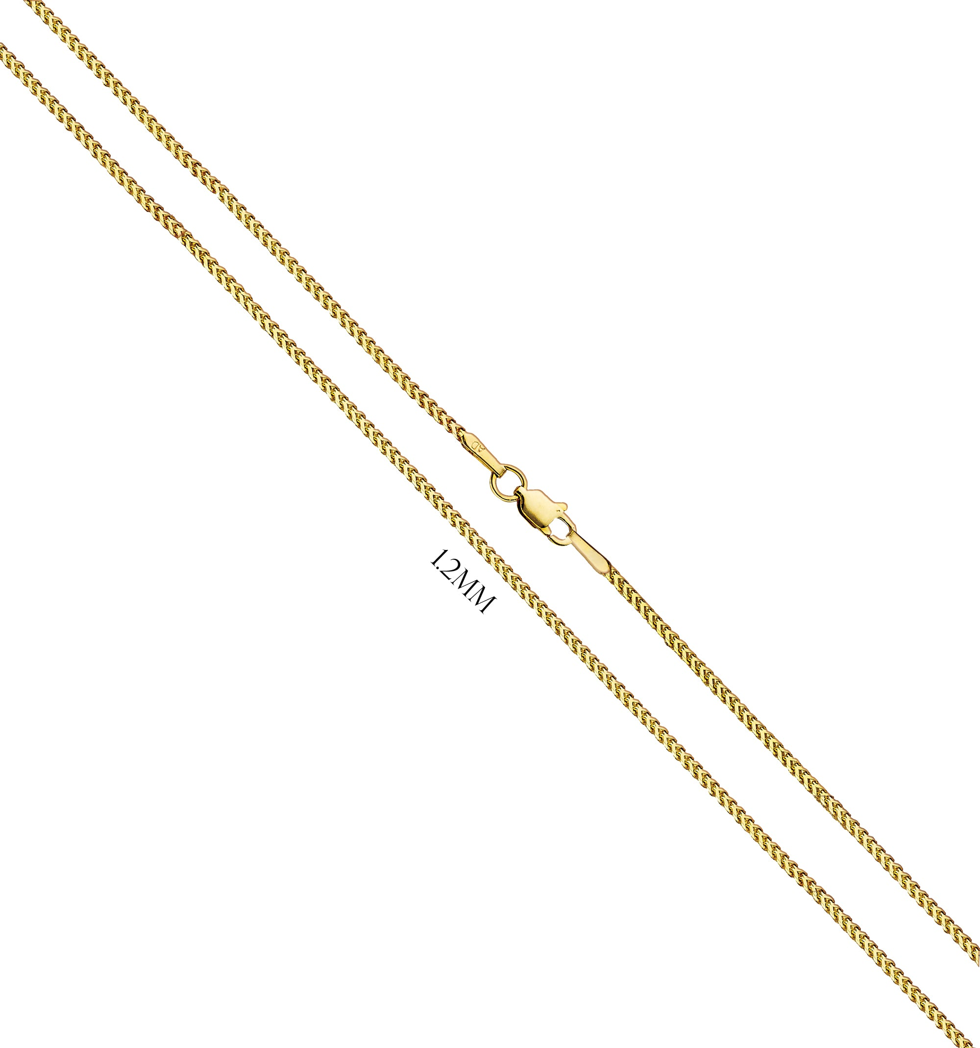 Franco Chain In Solid 14K Yellow Gold - 1.2MM