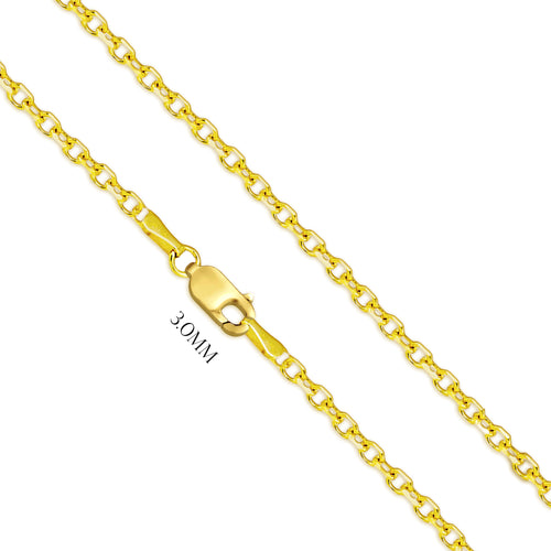 Diamond Chain In Cut Cable Design - 3.0MM