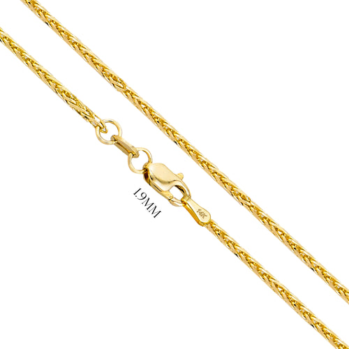 Wheat Chain With Lobster Claw - 1.9MM