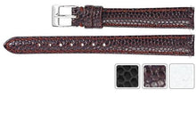Watch Band - Leather Watch Strap Lizard Grain Padded Band