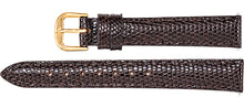 Watch Band In Genuine Lizard Leather - Brown Color