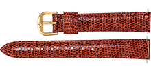 Watch Band In Genuine Lizard Leather - Honey Color